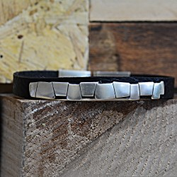 Jagged Leather Bracelet
