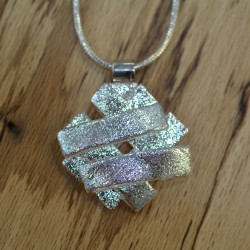 Silver glass pendant