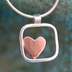 Love in a box - One heart pendant