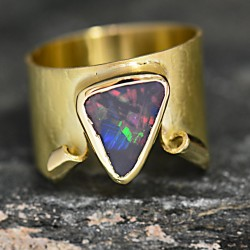 Textured Dug Up Opal Ring