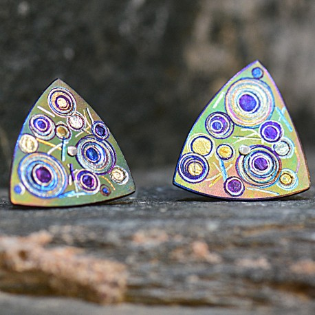 Triangular Stud Earrings