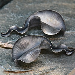 White Large Kelp Earrings